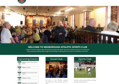 Mexborough Athletic Sports Club Website